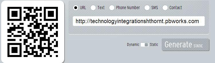 Technology Integration- Sharon Thornton / QR Codes